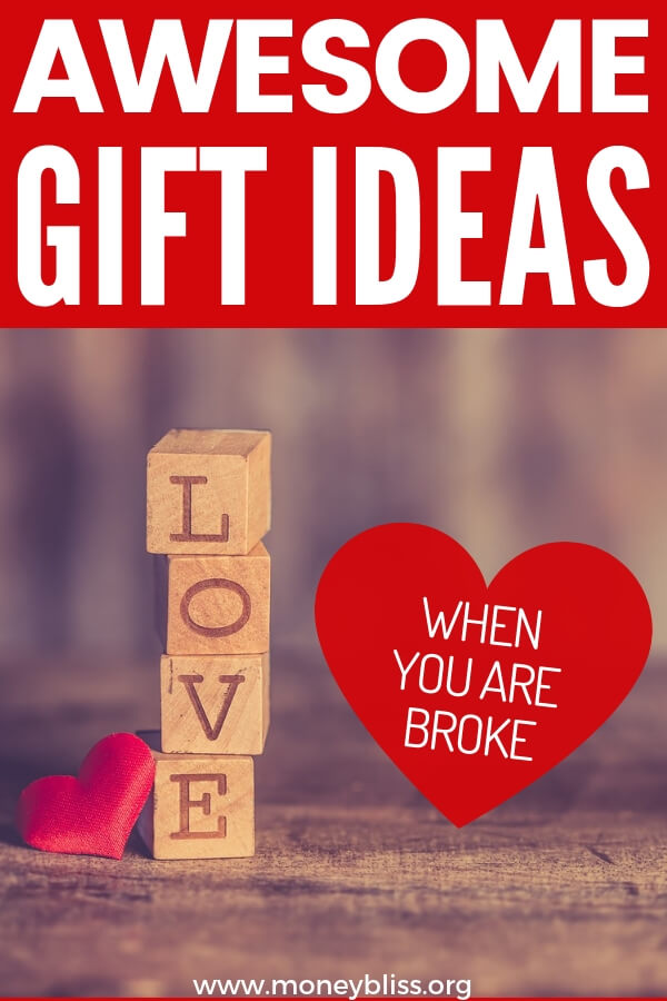 Find a romantic, unique gift for him, for her, or for couples. Gifts from the heart can be cheap or free and continue your path to financial freedom. #gifts #money #valentines #moneybliss