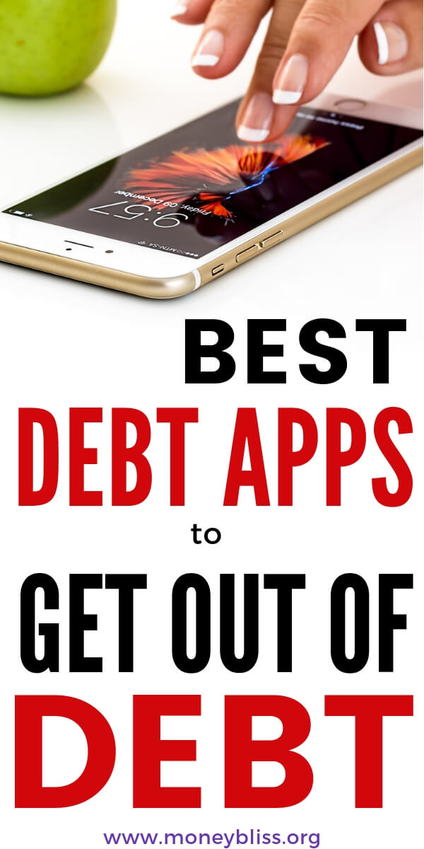 Here is a list of the best debt payoff apps for IOS and Android. Make a plan to get out of debt using a smartphone app (plus many have an online web option). Track your debt free journey and find extra money to pay off debt. #debt #howto #moneytips #moneybliss