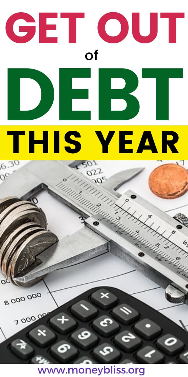 Get out of debt this year. Payoff credit card debt and student loans with the debt snowball or avalanche. Find tips for motivation and inspiration when you are drowning in debt. Find free printable worksheets. #debt #debtfree #moneybliss