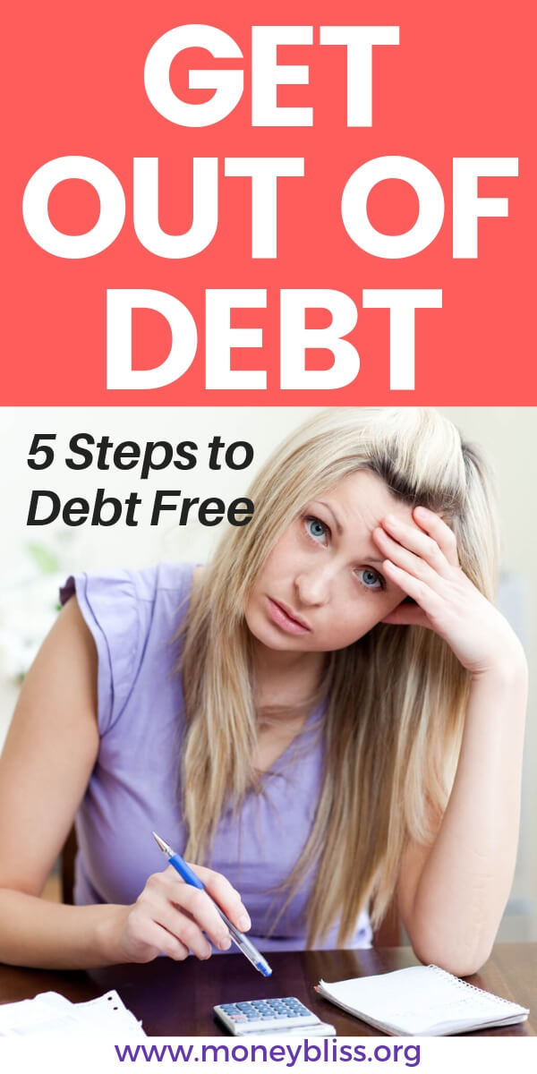 Get out of debt fast! Use these 5 simple steps to becoming debt free. Make your budget work for you and change your personal finances. Find tips and tricks to succeed.