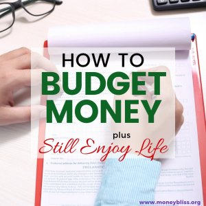 Money and finances got you down? Learn how to budget money and still enjoy life. Budgeting for families or couples on a monthly or biweekly basis. Get free budget worksheets and printables. #budget #finances #moneybliss