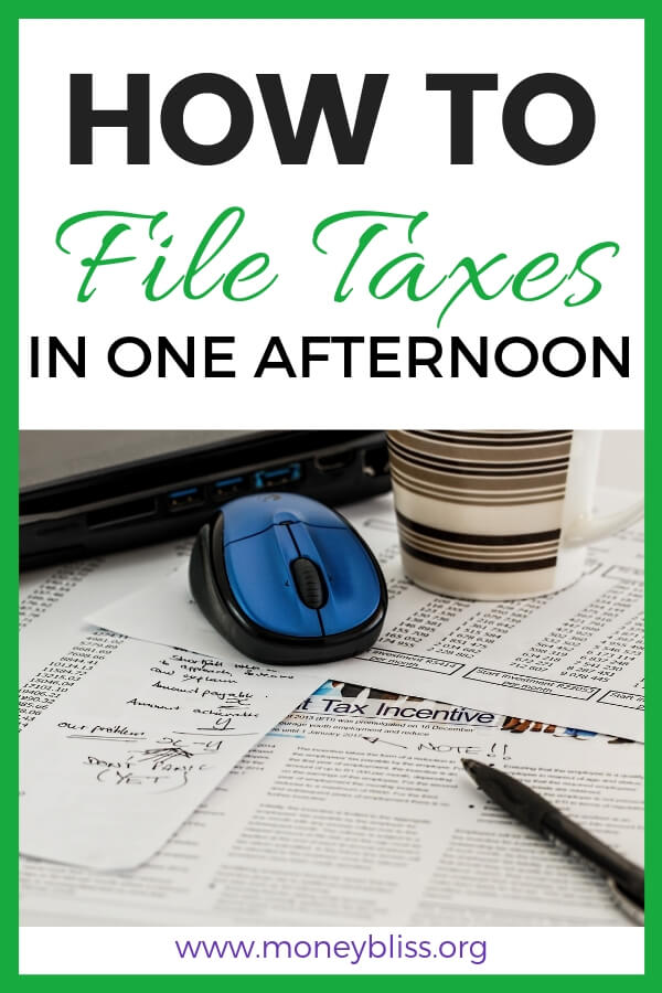 How to File Taxes online in one afternoon. Learn how to do tax returns yourself even if you are filing taxes for the first time. Use free income tax filing or compare options of TurboTax vs. HR Block for online tax prep and software. Free online tax filing. #taxes #moneybliss