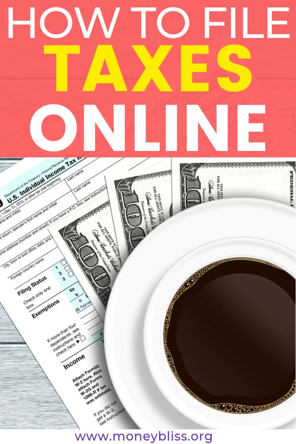 Learn how to file taxes online with free products. Get tips on how to organize paper clutter and the best ways to file to get the maximum refund money due to you. #taxtime #moneybliss