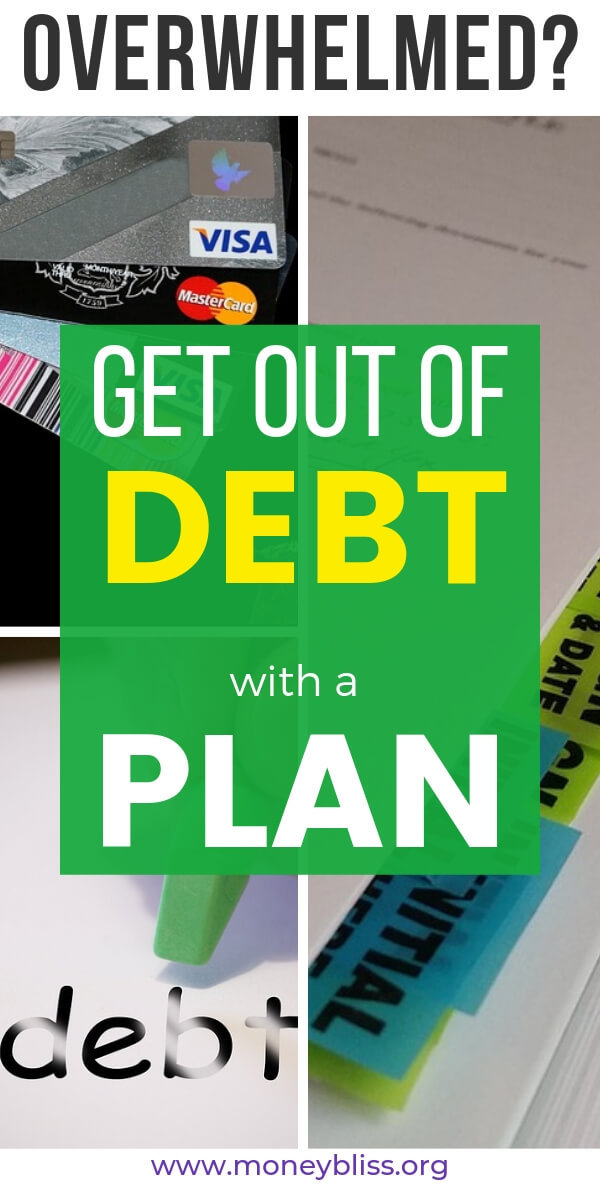 Tired of debt? Make a plan to get out of debt. Change your personal finance situation with these simple ideas. Credit cards tips. Find financial peace.