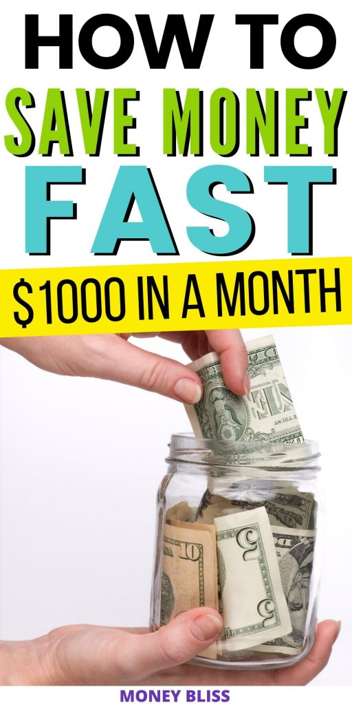 Need to save money fast. Use these simple tips and tricks to improve your budget. Find extra cash and stop living paycheck to paycheck. Find plenty of ideas and not all of them include frugal living. | Money Bliss #savemoney #income #moneybliss