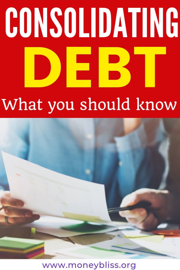 Want to save money on interest and pay off your debt faster? Then, debt consolidation might be right for you. Learn the pros and cons. Get tips to find the best lender. #payoffdebt #moneybliss