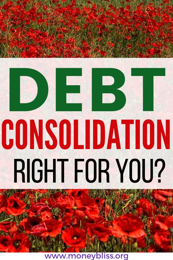 Is debt consolidation right for you? Get tips to know whether a debt consolidation loan is worth it for you. Guidance if you have bad credit and how to find a reputable lender. #debt #moneybliss