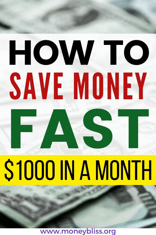 Need to start saving money fast? Learn how to save money fast! Specially $1000 in a month. Get simple tips and ideas to save extra cash and improve your personal finance situation.