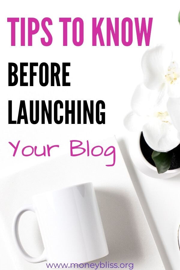 Wait! Before you launch your blog, here are tips you need to do first in order to by successful. These ideas are perfect for small businesses. #blog #moneybliss