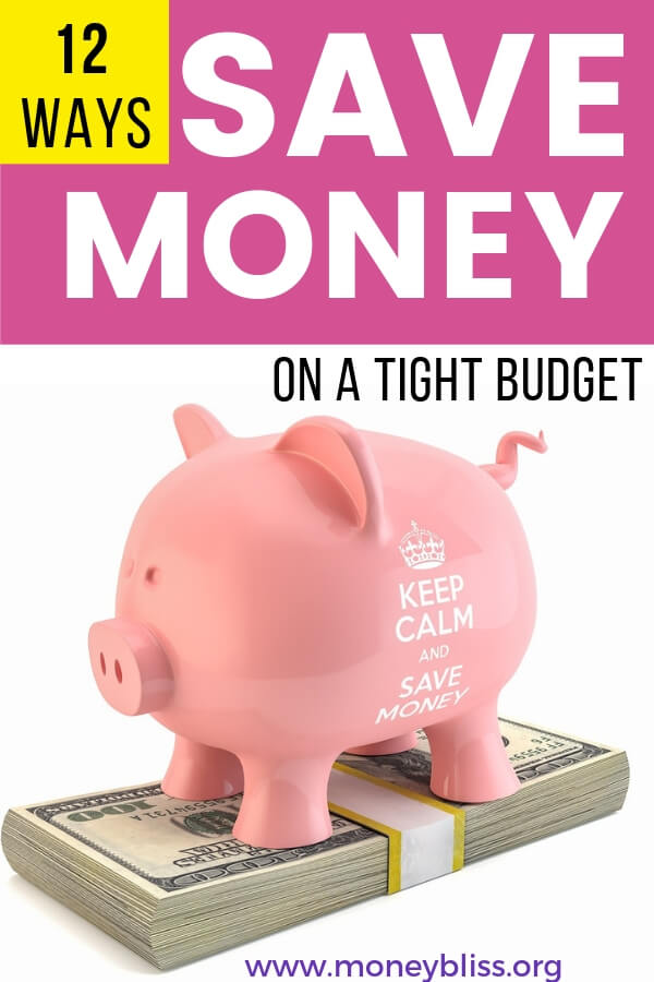 Learn 12 ways to save money on any budget. All of the best ideas and tips in one place. Get extra cash, enjoy frugal living and budgeting while being debt free.