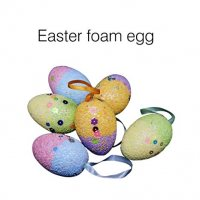Colorful Easter Eggs DIY Drawing Decorations Foam Egg Hanging Ornaments Easter Decoration (12PCS)