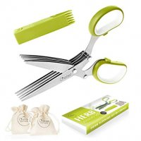 Herb Scissors Set - Multipurpose Cutting Shears with 5 Stainless Steel Blades