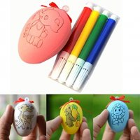 Molyveva Easter Eggs with 4 Water Color Pens for DIY Craft