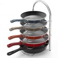 Pan and Pot Lid Organizer Rack Holder