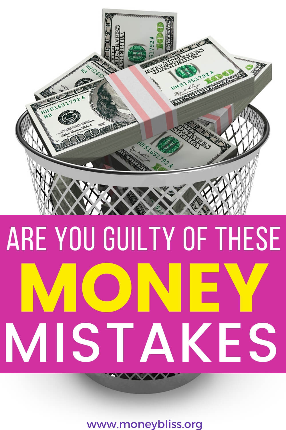 Are you guilty of these money mistakes? Any of them can destroy your personal finance situation. Learn how to avoid the money mistakes and greatly improve how you handle money with affirmations.