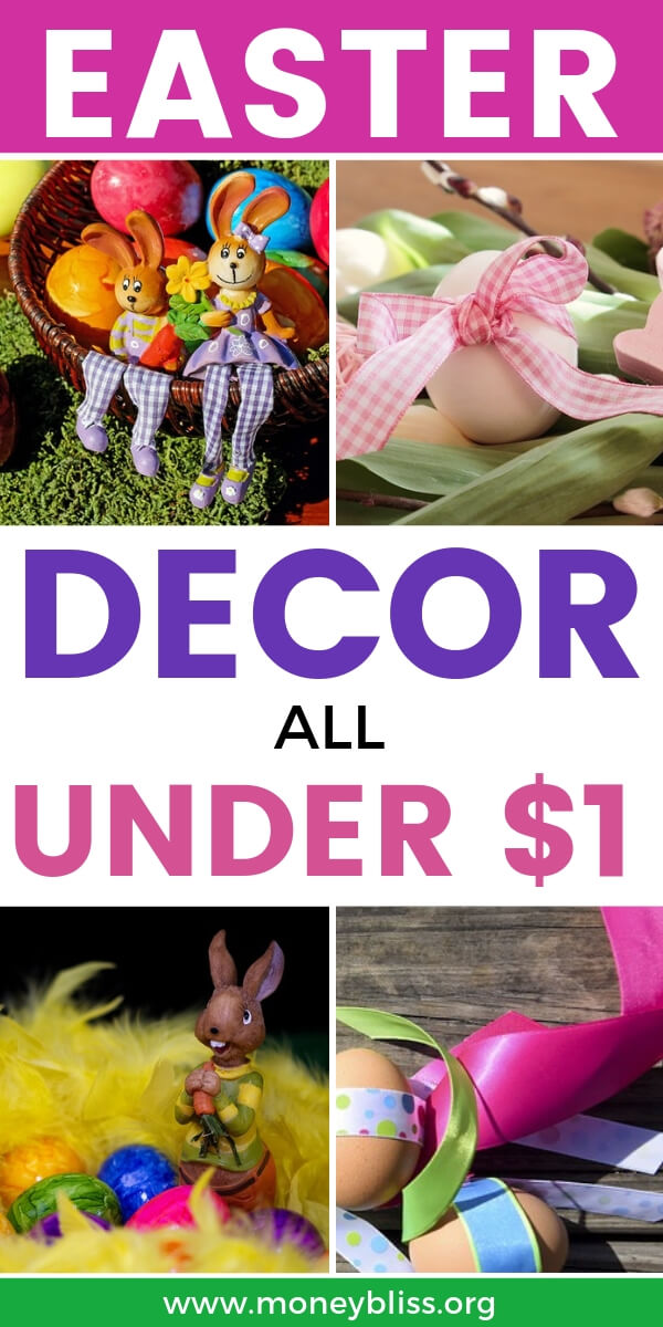 Find inspiration for easy Easter decorations and DIY crafts from the Dollar Store. Stretch your Easter budget with these money saving tips.