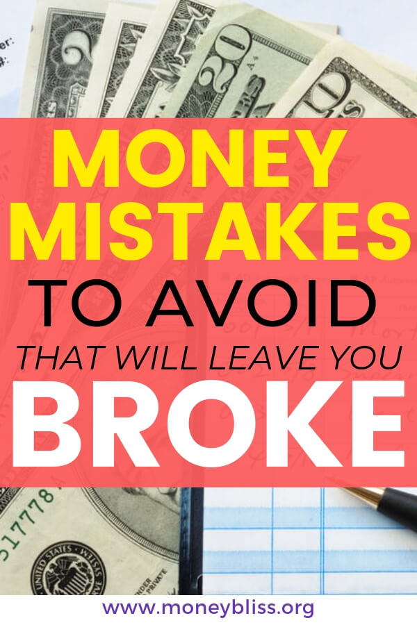 These money mistakes to avoid because they will leave you broke. In the post, we provide simple tips to overcome money mistakes and improve your personal finance situation. Stop the debt cycle today.