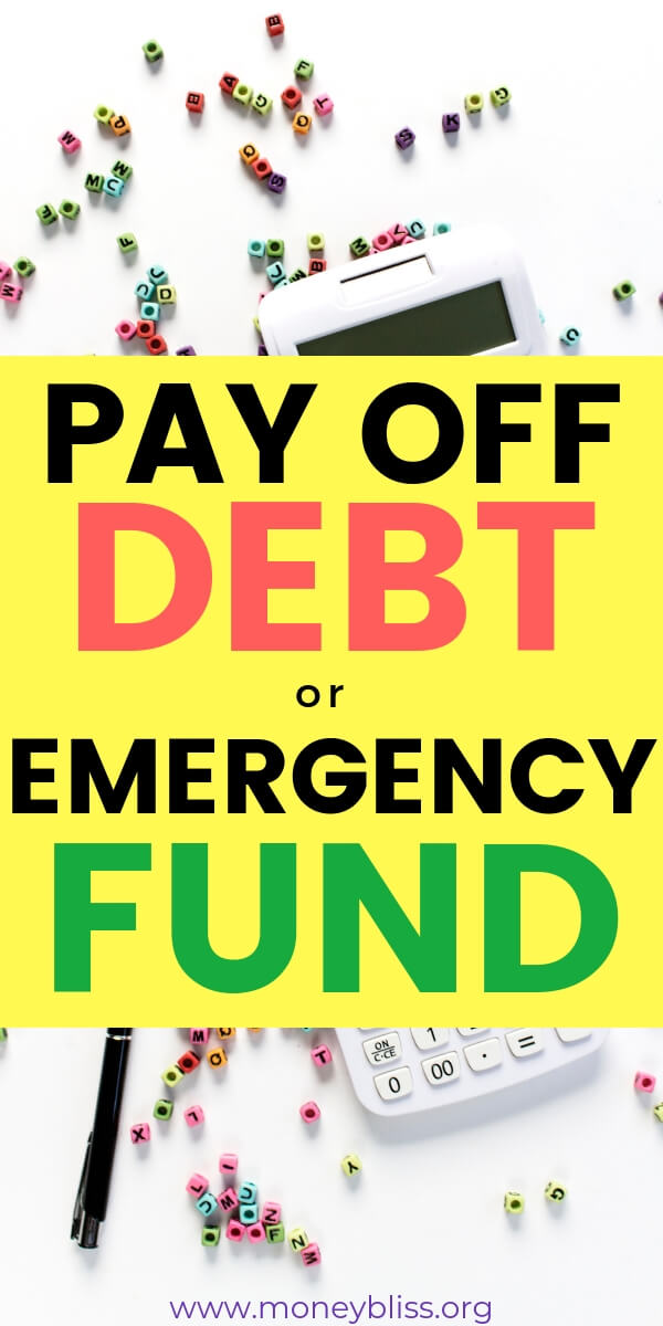 Should you build an emergency fund or pay off debt? What will make the most impact with your personal finances? Save money now and pay off debt later? Learn the key ideas and tips to be successful in getting out of debt and saving money now.