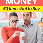 Learn how save money on groceries. Stay on budget when grocery shopping. Save money by not buying these items. These grocery money saving tips will save you thousands. Combine frugal living with healthy eating to equal extra cash. #grocerybudget #shop #moneybliss