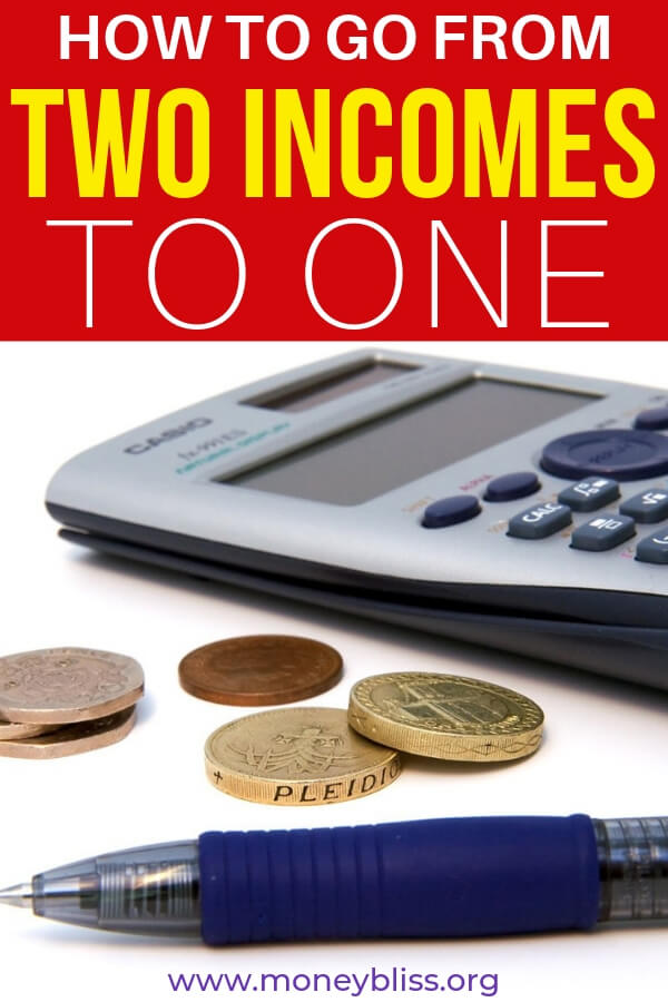 Want to learn how to go from two incomes to one. This post will explain how to do it. Tips to make the jump from two incomes to one way less scary to make the jump. Totally doable if you desire it.