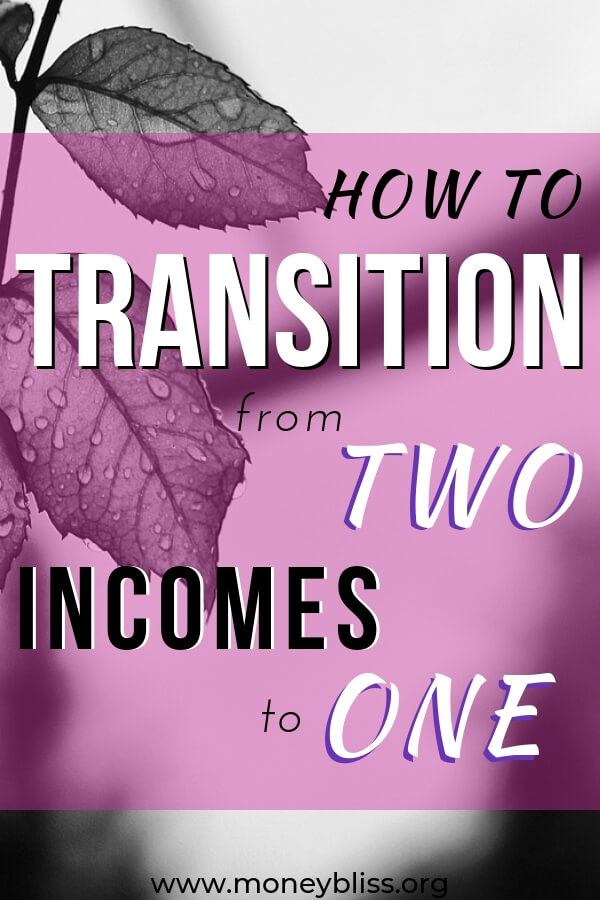 How to transition two incomes to one. Lean how to become a stay at home mom. Find out how to live off one income in a dual income world. #income #money #moneybliss