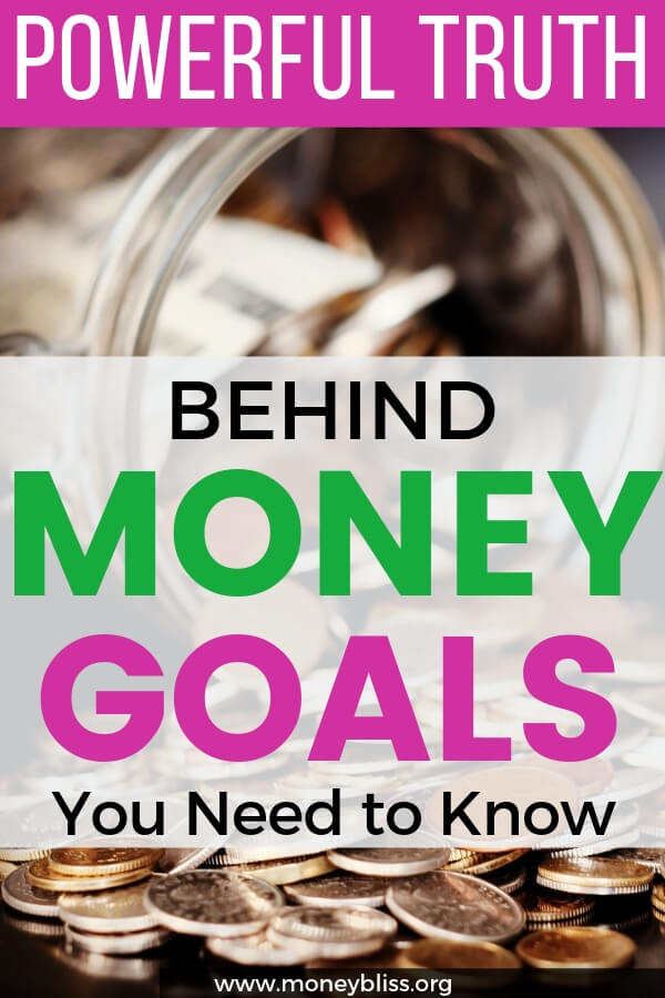 Money goals led to wealth. Learn the powerful truth of savings to live the happy life of your dreams. Setting the future and set personal financial goals. Create a money vision board.