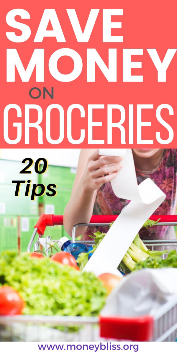 Stretch your budget further! Learn how to save money on groceries without using coupons. These 20 ways will help your shopping lists, meals, and eating healthy. Simple grocery tips!