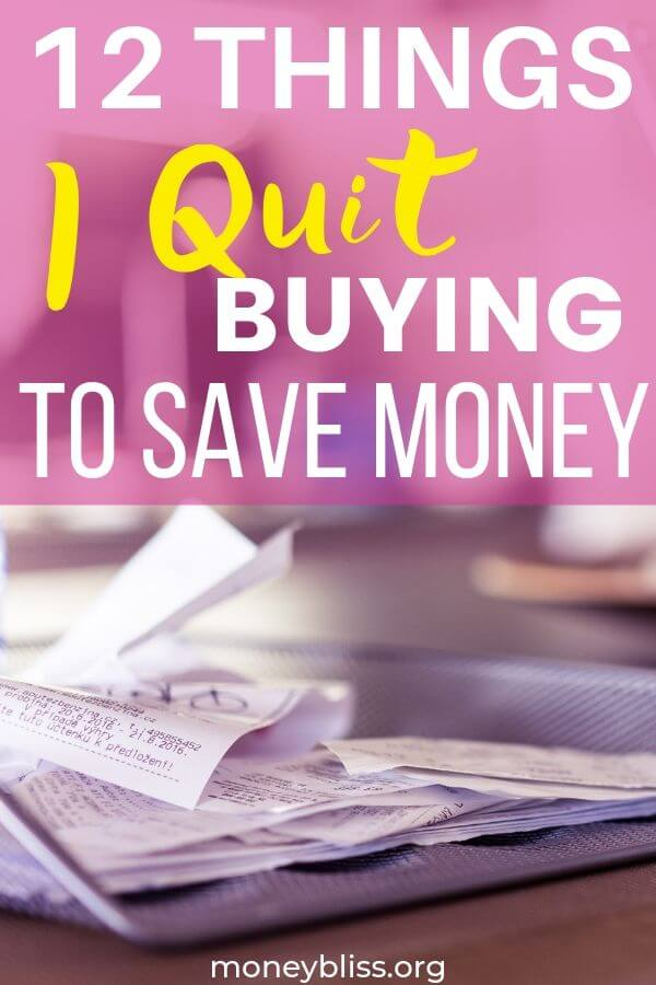After a spending freeze, I learned some money saving tricks. Now, these are 12 things I quit buying completely to save money. This helped us get out of debt.