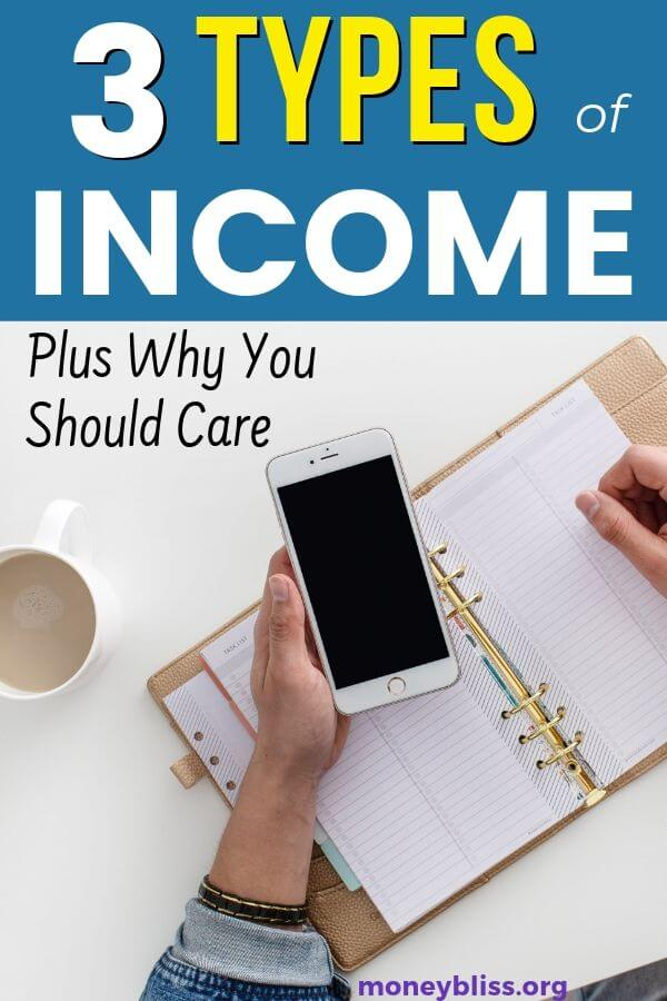 Understand the three types of income. You can improve your personal finances by including passive income and investment portfolio with your standard salary. Make money in various ways.