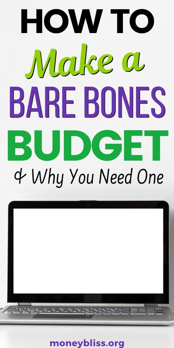 This is how I learned to make a bare bones budget. Stop overspending money, get out of debt, increase your savings percentage. Improve your finances with these free printables and worksheets.