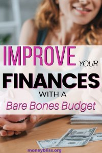 Get your finances in order with this free bare bones budgeting printable. Start saving money with these simple budget hacks. Real people use this to template to budget.