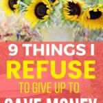 This is exactly what I refuse to give up to save money. Yes, money saving tips are great, so I can splurge on these items. These expenses are in monthly budget.