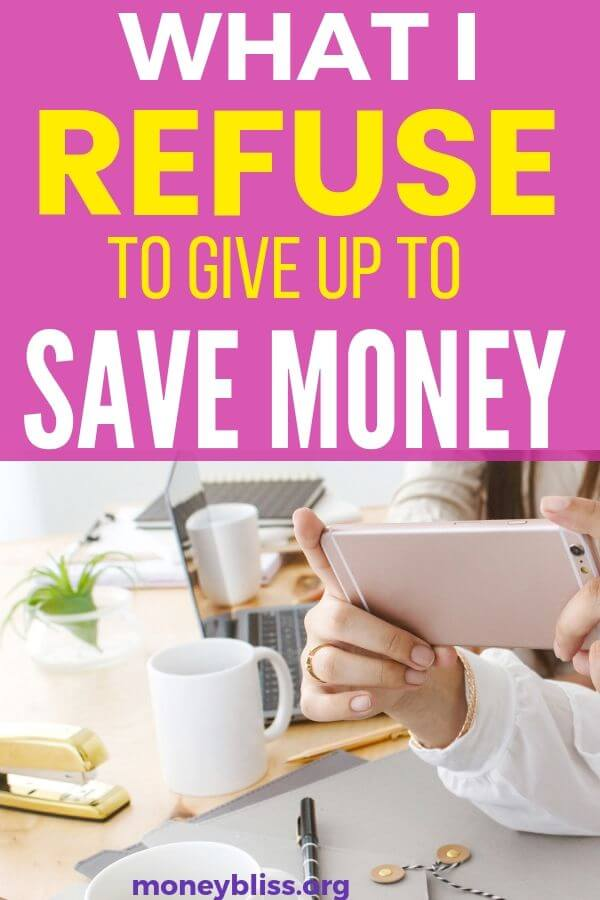 This is exactly what I refuse to give up to save money. Yes, money saving tips are great, so I can splurge on these items. These expenses are in monthly budget. - Money Bliss #expenses #budget #savingmoney