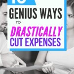 Learn how to drastically cut expenses and improve your budget. If you are living paycheck to paycheck, then use these 10 ideas to start saving money. Some may be frugal living tips. Others are great money management ideas. Perfect for anyone that is broke, on a tight budget or a low income. Find financial peace.