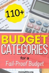 Use these personal budget categories for a fail proof budget. Get plenty of budgeting line items to make your budget simple. Grab your free printable. Never run out of money again with unexpected expenses.
