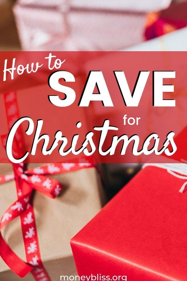 Time to save for Christmas! Learn to budget your money and start a Christmas Savings account today! It is never to late to start saving for Christmas - In July, In August, or in September. - Money Bliss #christmas #savemoney #moneybliss