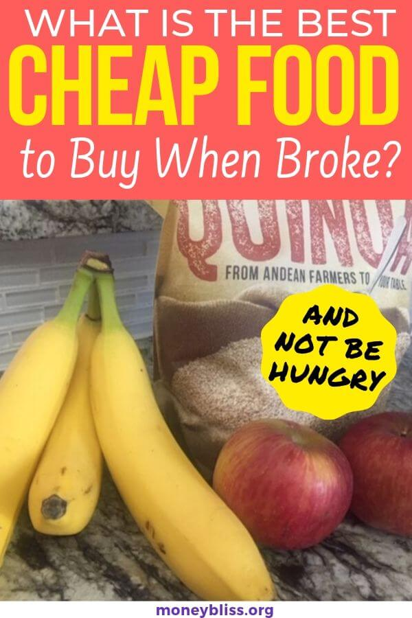 This list are the best cheap foods to buy when broke. You can eat the healthiest foods for a tight budget. Stretch your grocery budget with these money saving tips and foods.