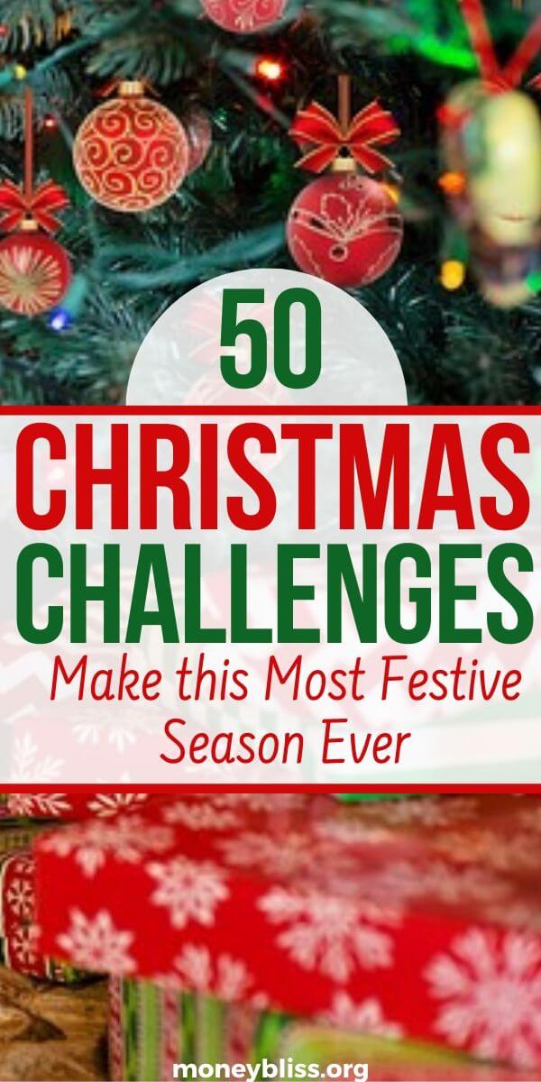 Christmas challenges to get your prepared for the festive season. Find ideas on crafts, games, cookie exchanges, gifts, and savings plan. Get organized in less than 30 days. Plus activities for kids!