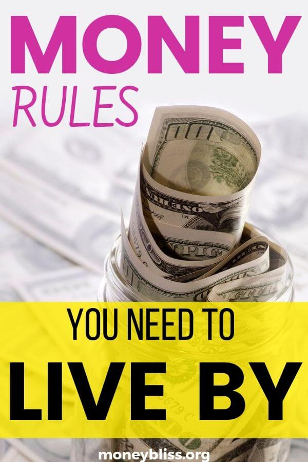 These money rules improved my money management and changed my personal finances. A must to live by. Budgeting made easy, debt free, saving more money, and building wealth. These tips will make sure I reach financial freedom quickly. - Money Bliss #personalfinances #money #budget #savemoney #moneybliss