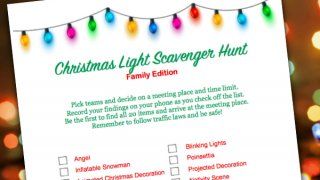 Christmas Light Scavenger Hunt - Retro Housewife Goes Green