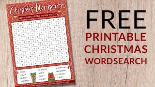 Fun Christmas Wordsearch Printable