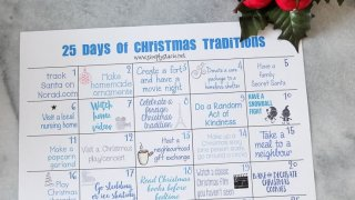 25 Days of Christmas Traditions Free Printable #NeverRunOut
