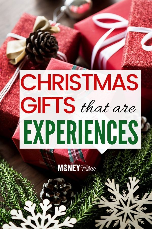 Give the perfect gift today! Perfect alternatives to gifts! Give Christmas gifts that are experiences not stuff. These non-toy gift ideas for couples, for families, for kids are meaningful gifts they will treasure for a lifetime. #gifts #experiences #moneybliss