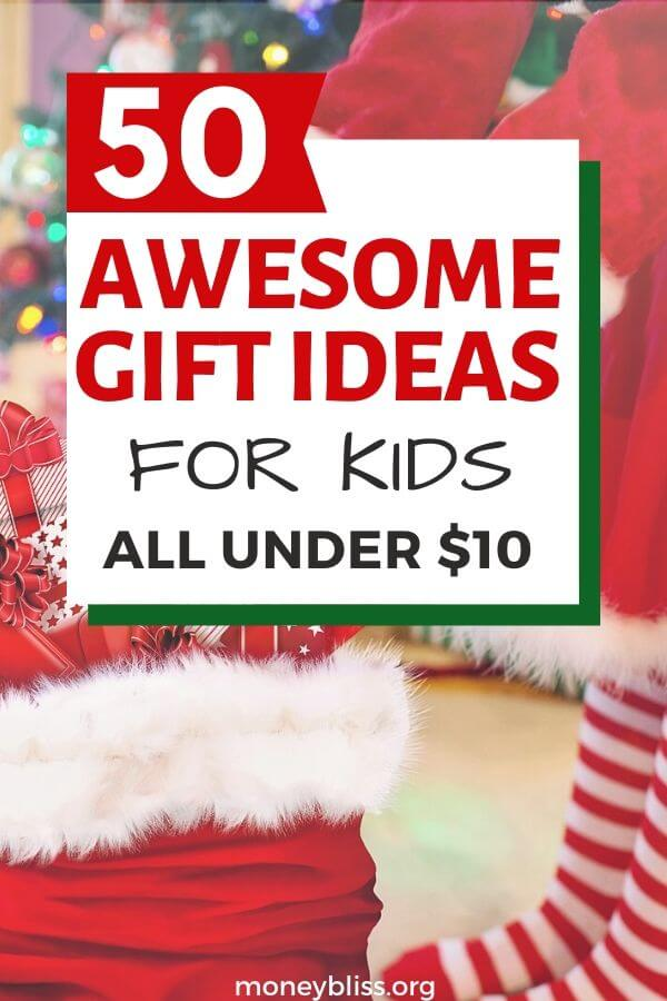 Christmas Gift Ideas for Kids. Everything is under $10. Perfect to stay under your Christmas budget. The perfect present doesn't have to be cheap things. Find the best gift for boys and girls.