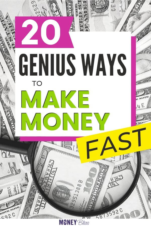 Get ready to make money fast! These are easy ideas to make extra cash today. Some ways are app. Others can be done at home in your spare time.