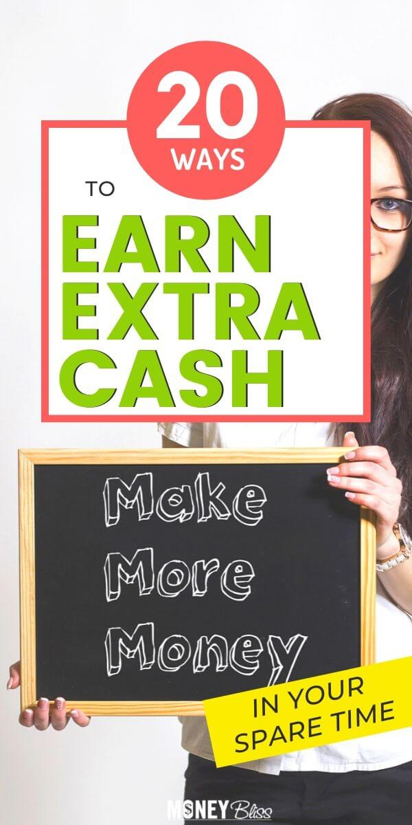 Here are 20 simple ways to earn extra cash. These ideas will help you make money fast. Many of these ideas can be done at home and online. Get paid today.
