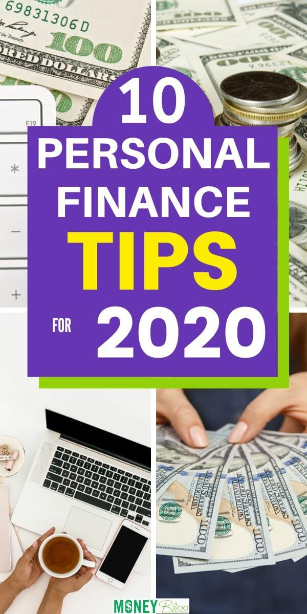 Here are 10 personal finance tips that can have a huge impact on your money in 2020! Implement these simple money management tips. If you want to change your personal finances, then learn to save more money, budget, live a frugal lifestyle, pay off debt and reach financial freedom. READ MORE to get your financial planning on track in 2020.