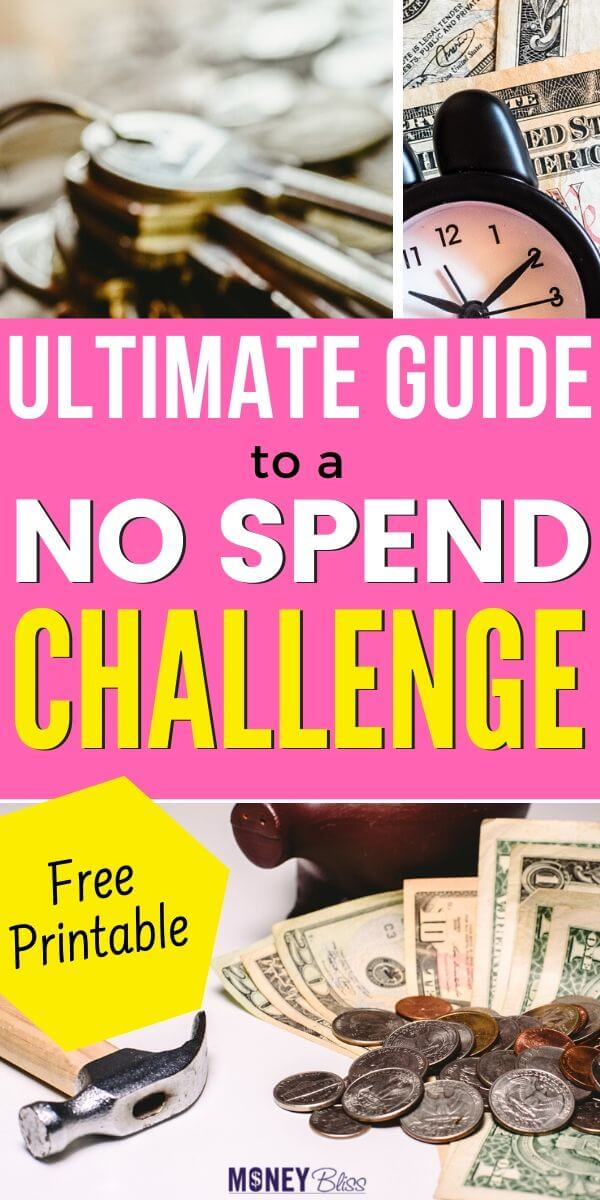 What is a no spend challenge? How do I not spend money all? In this ultimate guide, we will cover the no spend challenge rules and results. Plus download your free printable and worksheets. Learn why a no spend day is helpful for your budget. Start saving money today with these frugal living tips.