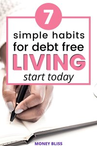 Is it good to live debt free? Learn the essential traits to become debt free. These debt free living habits helped me to get out of debt and now save money. Being debt free is important regardless of your age. Use these debt payoff tips to help you. | Money Bliss