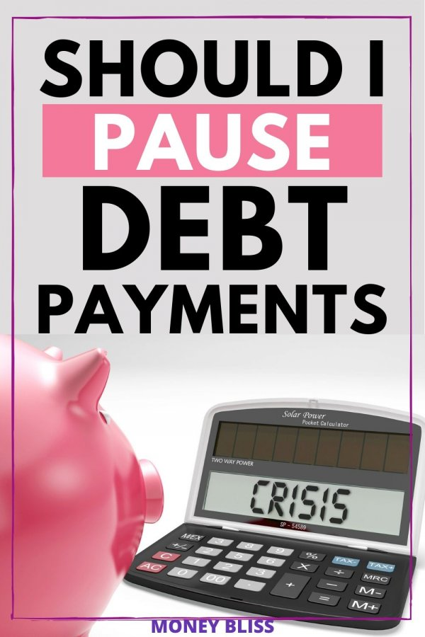 Is it a smart choice to pause extra debt payments? When crisis hits, you need to know when it is best to pause debt snowball. Don't make a common debt mistake during debt payoff. Look at your personal finances to make decide whether to stop paying extra money. Find tips to keep you focused on becoming debt free and use a tracker for progress.